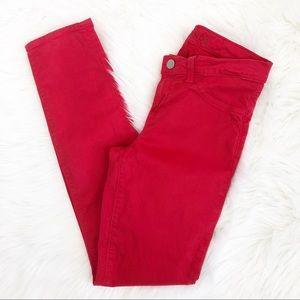 J Brand Red Skinny Jean